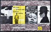 Tyskland - cirka 2003: en stämpel tryckt i Tyskland tillägnad affischkonst, cirka 2003 — Stockfoto