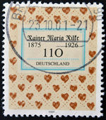 GERMANY - CIRCA 2000: A stamp printed in Germany shows cower of book by Rainer Maria Rilke, circa 2000 — Stock Photo