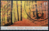GERMANY - CIRCA 2006: A stamp printed in Germany dedicated to autumn, circa 2006 — Stock Photo