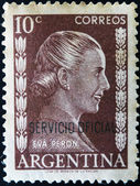 ARGENTINA - CIRCA 1952: A stamp printed in Argentina shows portrait Maria Eva Duarte de Peron, circa 1952 — Stockfoto