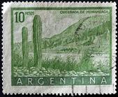 ARGENTINA - CIRCA 1954: A stamp printed in Argentina shows Quebrada de Humauaca, circa 1954 — Stock Photo