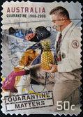 Australien - circa 2008: eine briefmarke gedruckt in australien gewidmet die quarantäne, circa 2008 — Stockfoto