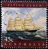 Australie - circa 1998 : un timbre imprimé en Australie montre nuage volant, circa 1998 — Photo