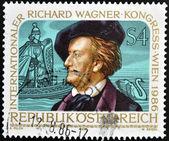 Austria - circa 1986: un sello impreso en austria muestra richard wagner, circa 1986 — Foto de Stock