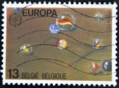 BELGIUM - CIRCA 1989: A stamp printed in Belgium shows marbles, circa 1989 — Stock Photo