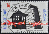 BELGIUM - CIRCA 1995: A stamp printed in Belgium dedicated to Liberation from the Camps, circa 1995 — Stock Photo