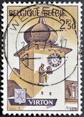 BELGIUM - CIRCA 1970: A stamp printed in Belgium shows Virton, circa 1970 — Stock Photo