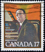 CANADA - CIRCA 1980: stamp printed in Canada shows Healey Willan, organist, composer, circa 1980 — Stock Photo