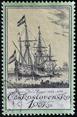 CZECHOSLOVAKIA - CIRCA 1976: A Stamp printed in Czechoslovakia shows sailing ship, circa 1976 — Foto Stock