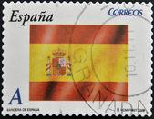 SPAIN - CIRCA 2009: A stamp printed in Spain shows flag, circa 2009 — Stock Photo