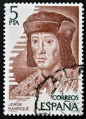 SPAIN - CIRCA 1979: A stamp printed in Spain showing an image of Jorge Manrique, circa 1979. — Stock Photo