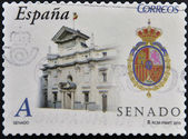 SPAIN - CIRCA 2010: A stamp printed in spain shows the building of the Senate, circa 2010 — Stock Photo