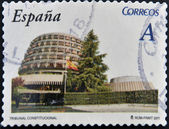 SPAIN - CIRCA 2011: A stamp printed in spain shows the constitutional court building, circa 2011 — Stock Photo