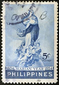PHILIPPINES - CIRCA 1954: A stamp printed in Philippines shows the Immaculate Virgin, circa 1954 — Stock Photo