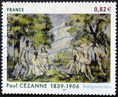 "FRANCE - CIRCA 2006: A stamp printed in France shows the painting ""Bathers"" by Paul Cezanne, circa 2006 — Stock Photo"