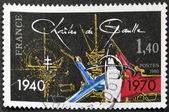 FRANCE - CIRCA 1980: A stamp printed in France dedicated to Charles de Gaulle, 1940 - 1970, circa 1980 — Stock Photo