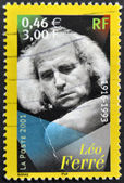 FRANCE - CIRCA 2001: A stamp printed in France shows Leo Ferre, circa 2001 — Stock Photo
