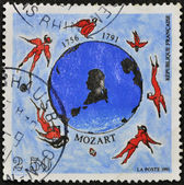 FRANCE - CIRCA 1991: A stamp printed in France dedicated to Mozart, circa 1991 — Stock Photo