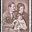 Royalty-Free Stock Photo: GREECE - CIRCA 1966: A stamp printed in Greece shows Greek royal family , circa 1966