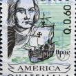 GUATEMALA - CIRCA 1992: A stamp printed in Guatemala shows Christopher Columbus, circa 1992 - Stock Photo