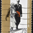 HOLLAND -CIRCA 1987: Stamp printed in the Netherlands for the golden jubilee of the wedding of Queen Juliana with Prince Bernhard von Lippe Biesterfeld in 1937, circa 1987 — Stock Photo #9450092