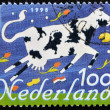 HOLLAND - CIRCA 1995: A stamp printed in the Netherlands, shows a Cow, circa 1995 — Stock Photo