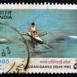 INDIA - CIRCA 1982: A stamp printed in India dedicated to asian games Delhi 1982, circa 1982 — Stock Photo