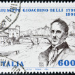 ITALY - CIRCA 1991: A stamp printed in Italy shows Giuseppe Giochino Belli, circa 1991 — Stock Photo