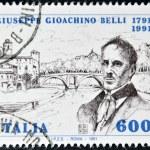 ITALY - CIRCA 1991: A stamp printed in Italy shows Giuseppe Giochino Belli, circa 1991 — Stock Photo
