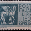 ITALY - CIRCA 1957: A stamp printed in Italy shows image of Pegasus, the winged horse, circa 1957 — Stock Photo