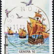 ITALY - CIRCA 1992: A stamp printed in Italy dedicated to the Columbian celebrations, circa 1992 — Stock Photo