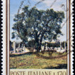 Stock Photo: ITALY - CIRC1965: stamp printed in Italy dedicated to forest biodiversity, shows olive tree, circ1965
