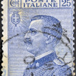 ITALY - CIRC1908: stamp printed in Italy, shows King of Italy Victor Emmanuel III, circ1908 — Stock Photo #9450387