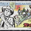Royalty-Free Stock Photo: ITALY - CIRCA 1996: A stamp printed in Italy shows Tex Willer, circa 1996