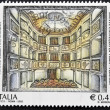 Stock Photo: ITALY - CIRC2002: stamp printed in Italy shows theater of concord en Monte Castello di Vibio, Perugia, circ2002