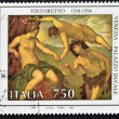 "ITALY - CIRC1994: stamp printed in Italy shows work ""Bacchus and Ariadne"" by Tintoretto, Doge's Palace in Venice, circ1994 — Stock Photo #9450410"