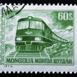 MONGOLI- CIRC1973: Stamp printed in MONGOLIshows Diesel Locomotive, circ1973 — Stock Photo #9450728