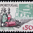 PORTUGAL - CIRCA 1970: A stamp printed in Portugal shows medical instruments and modern operating room, circa 1970 — Stock Photo #9451039