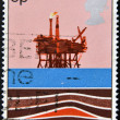 UNITED KINGDOM - CIRCA 1978: A Stamp printed in Great Britain showing Energy Resources - Oil, circa 1978 — Photo