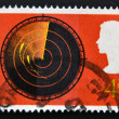UNITED KINGDOM - CIRCA 1967: a stamp printed in the Great Britain shows Radar Screen, circa 1967 — Stok fotoğraf