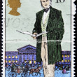 Stock Photo: UNITED KINGDOM - CIRCA 1979: a stamp printed in the Great Britain shows Sir Rowland Hill, originator of penny postage, reformer of the postal system, circa 1979
