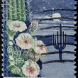 UNITED STATES - CIRCA 1962: stamp printed in USA shows Giant Saguaro Cactus, Arizona Statehood, circa 1962 — Stock Photo