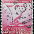UNITED STATES OF AMERICA - CIRCA 1940: a stamp printed in the United States of America shows 90-millimeter Anti-aircraft Gun, circa 1940 — Stock Photo