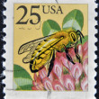 US- CIRC1988: stamp printed in USA, shows Western honey bee (Apis mellifera), circ1988 — Stock Photo #9451569