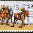 Stok fotoğraf: UNITED STATES OF AMERIC- CIRC1993: stamp printed in USshows Thoroughbred Racing, circ1993