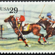UNITED STATES OF AMERICA - CIRCA 1993: A stamp printed in USA shows polo, circa 1993 — Stock Photo