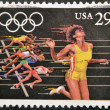 UNITED STATES OF AMERICA - CIRCA 1991: A stamp printed in USA dedicated to Olympic Games of Barcelona 92, shows running, circa 1991 — Stock Photo