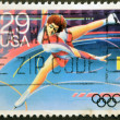 UNITED STATES OF AMERICA - CIRCA 1992: A stamp printed in USA dedicated to Winter Olympics, shows figure skating, circa 1992 — Stock Photo