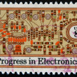 Royalty-Free Stock Photo: UNITED STATES - CIRCA 1973: stamp printed in USA shows transistors and printed circuit board , circa 1973