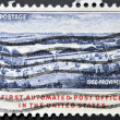 UNITED STATES OF AMERICA - CIRCA 1960: A stamp printed in USA shows first automated post office in the united states, providence, circa 1960 — Stock Photo